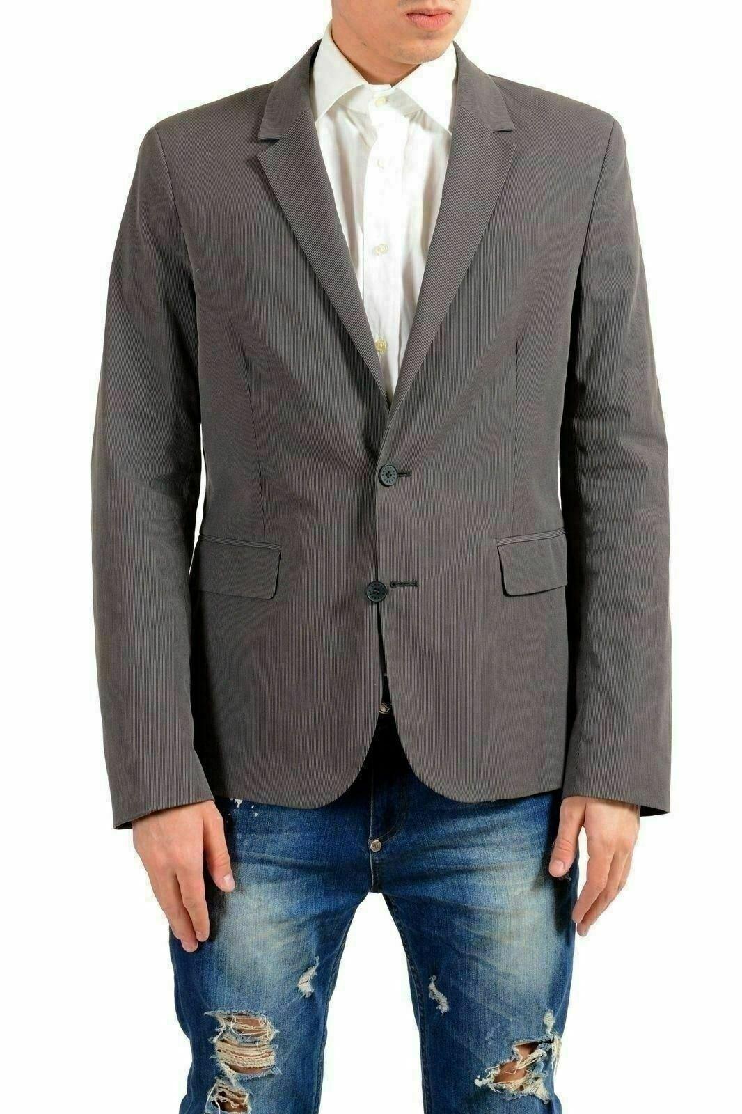 Versace Jeans Herren Grau Zwei Knöpfe Blazer Sport Mantel US 40 It 50