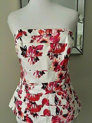 white house black market strapless bustier corset pink