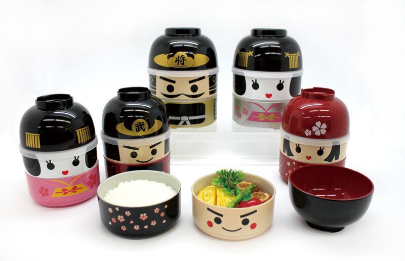 Japanese Kawaii Doll Bento Boxes (Samurai, Geisha and so on)