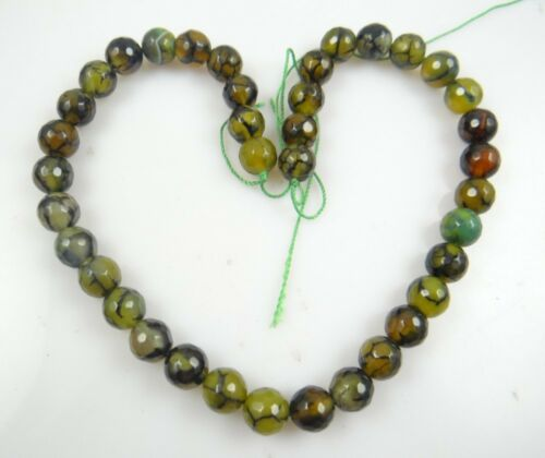 Jade Necklace Dragon Vein Agate Agate Reversible Necklace