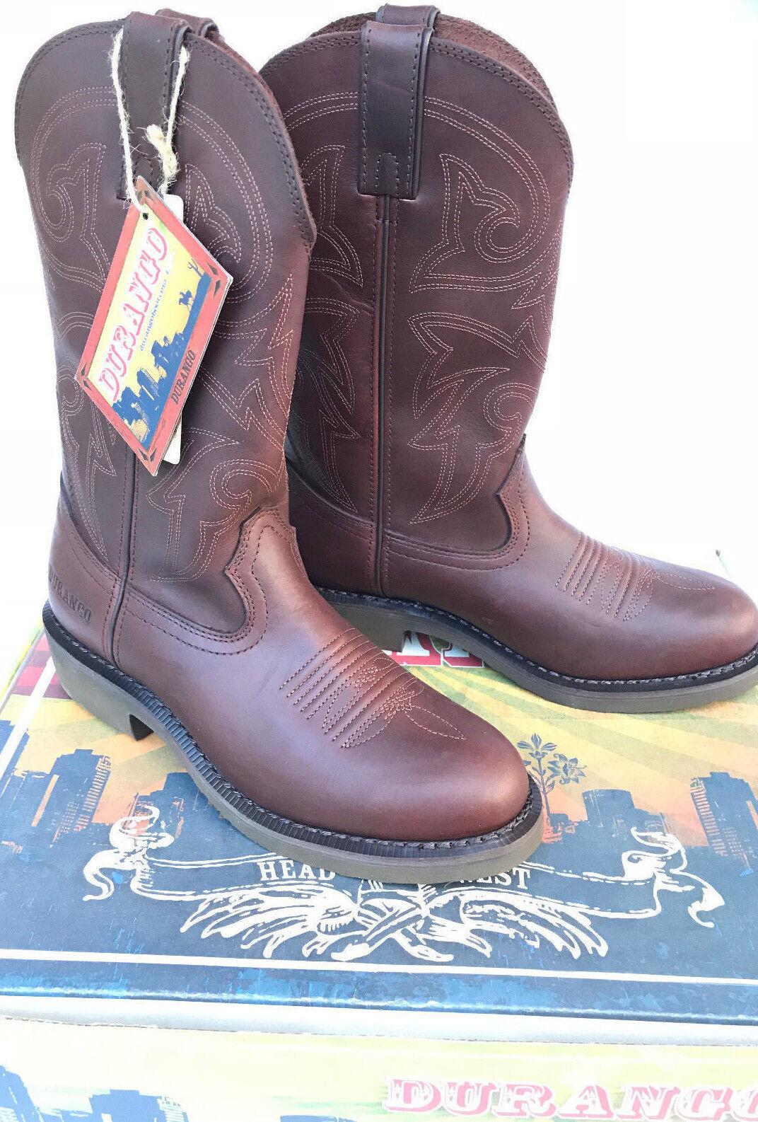 Durango Farm n Rancho FR104 Marrón Cuero Trabajo occidental botas de vaquero para hombre 7.5 D
