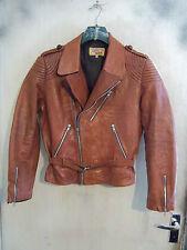 Molto RARO VINTAGE ANNI'50 americano John a Mikel'S Leather Giacca da moto taglia M