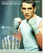 PUBLICITE ADVERTISING 056  2004   Adidas    soins actifs pour homme Skincare