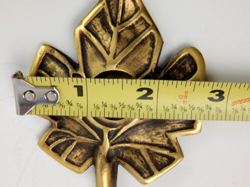 """Aged Brass Metal Gold Tree Leaf Doorbell Cover 4-3//4/""""  Door Bell Cover Maple"""