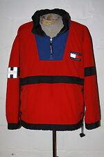 VTG Tommy Hilfiger Athletics Flag Logo Red Pullover Windbreaker Jacket Sz XL