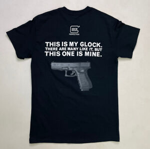 Glock Perfection. Gun T-shirt Men's Adult Small Black Short Sleeve
