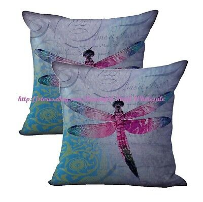 2pcs interior decorating themes  dragonfly cushion cover