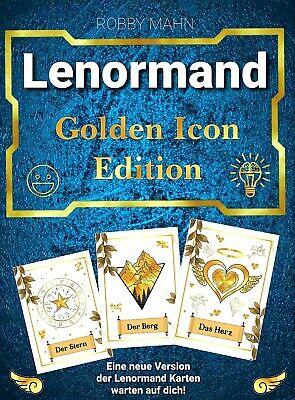 GOLDEN MAGIC LENORMAND KARTENDECK von Gabriele Mokros