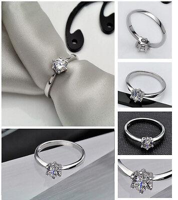 New Fashion women korea style 925sterling silver wedding rings luxury ring j