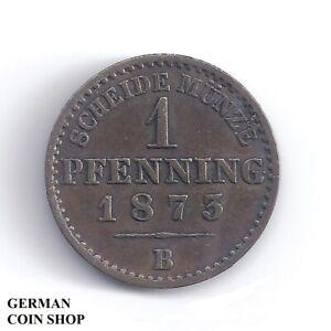 1-Pfennig-1873-B-Preussen-Preussen-Prussia-360-einen-Thaler