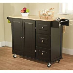 Details about Kitchen Island Cart Portable Small Rolling Movable Mobile  Wheels Trolley Table