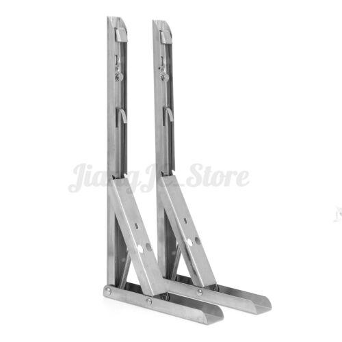 2Pcs Folding Table Bracket Wall Shelf Bench Support Stand Rack Holder Heavy