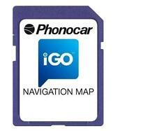 Mappa Phonocar NV996 - Navigazione GPS  iGo EUROPA per VM007 e VM10
