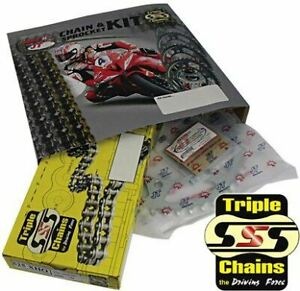 Triple-S-530-O-Ring-Chain-and-Sprocket-Kit-Gold-Yamaha-FZR1000R-Exup-1989-95