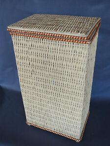 Antigua-aparador-de-cesta-pain-orange-naranja-cocina-anos-1970-frances-pan-box