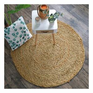 Détails sur Tapis naturel rond Boho 100% Jute Salon Chambre Ecologique fibre végétal