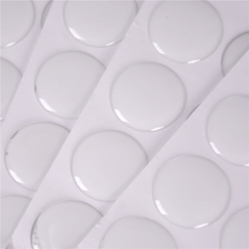 """100Pcs 1/"""" Round 3D Dome Sticker Crystal Clear Epoxy Adhesive Bottle Caps Craf/_ch"""