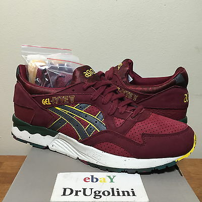 ASICS X THE GOOD WILL OUT GEL LYTE V 9-11 BURGUNDY GREY H41RK-2616 ... 360e0b7a9e