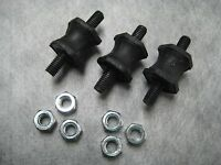 Air Pump Rubber Mount With Nuts For Bmw - Pack Of 3 - Ships Fast