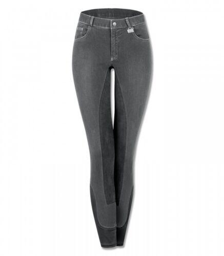 Damen Reithose Jeans Vollbesatz CARA ELT hellgrau//asphalt 36 NEU