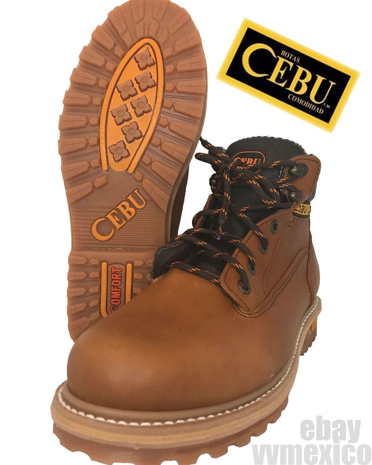 Nuevas botas de construcción Cebú Borcegui Marrón Cuero Antideslizante botas De Trabajo