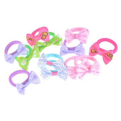 10pcs Cute Ribbon Hairbow Girls Hair Top Rope Hair Bow Kids Hair Accessories &wr