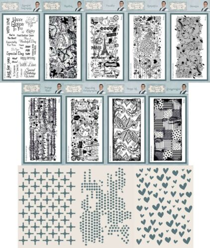 Phill Martin Sentimentally Yours Clear Stamp /& A5 Stencil Collection FREE UK P/&P