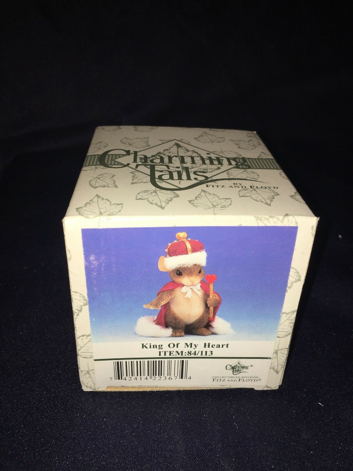 """Details about  /Fitz /& Floyd Charming Tails /""""King of My Heart/"""" Valentine Figurine #84//113"""