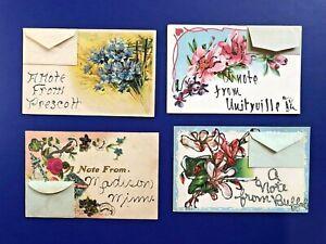 Embossed Floral Postcard # 4 REDUCED Lovely Vintage Gold Trimed