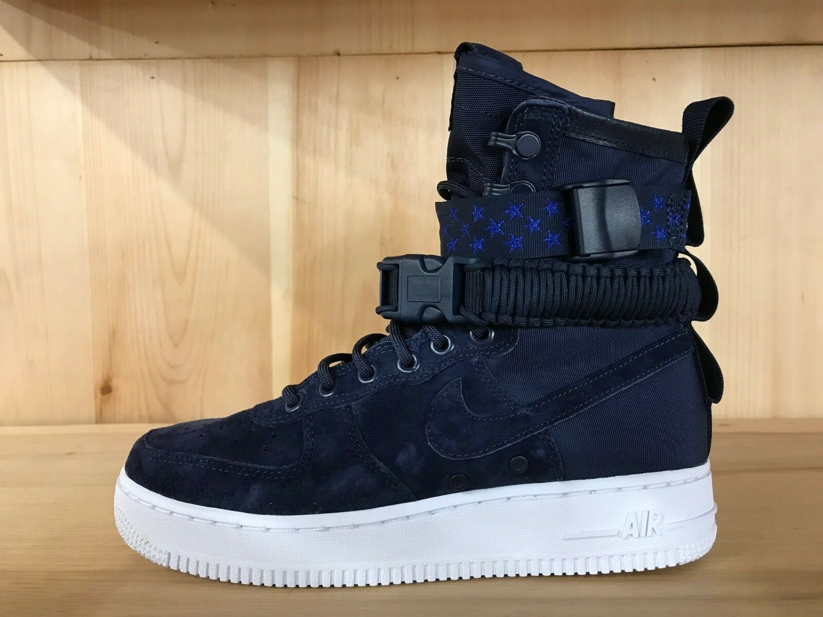 NIKE W SF AF1 SPECIAL FIELD AIR FORCE 1 MIDNIGHT NAVY WMNS SZ 6-10  857872-401