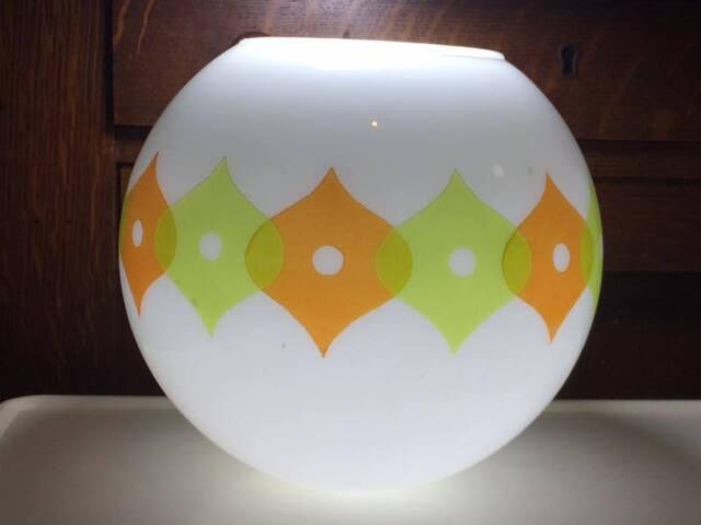 Mid century glass shade replacement globe