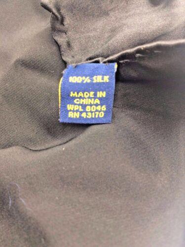 $95 BLOOMINGDALES Men/'s HANDKERCHIEF SOLID BLACK DRESS SILK POCKET SQUARE HANDKY