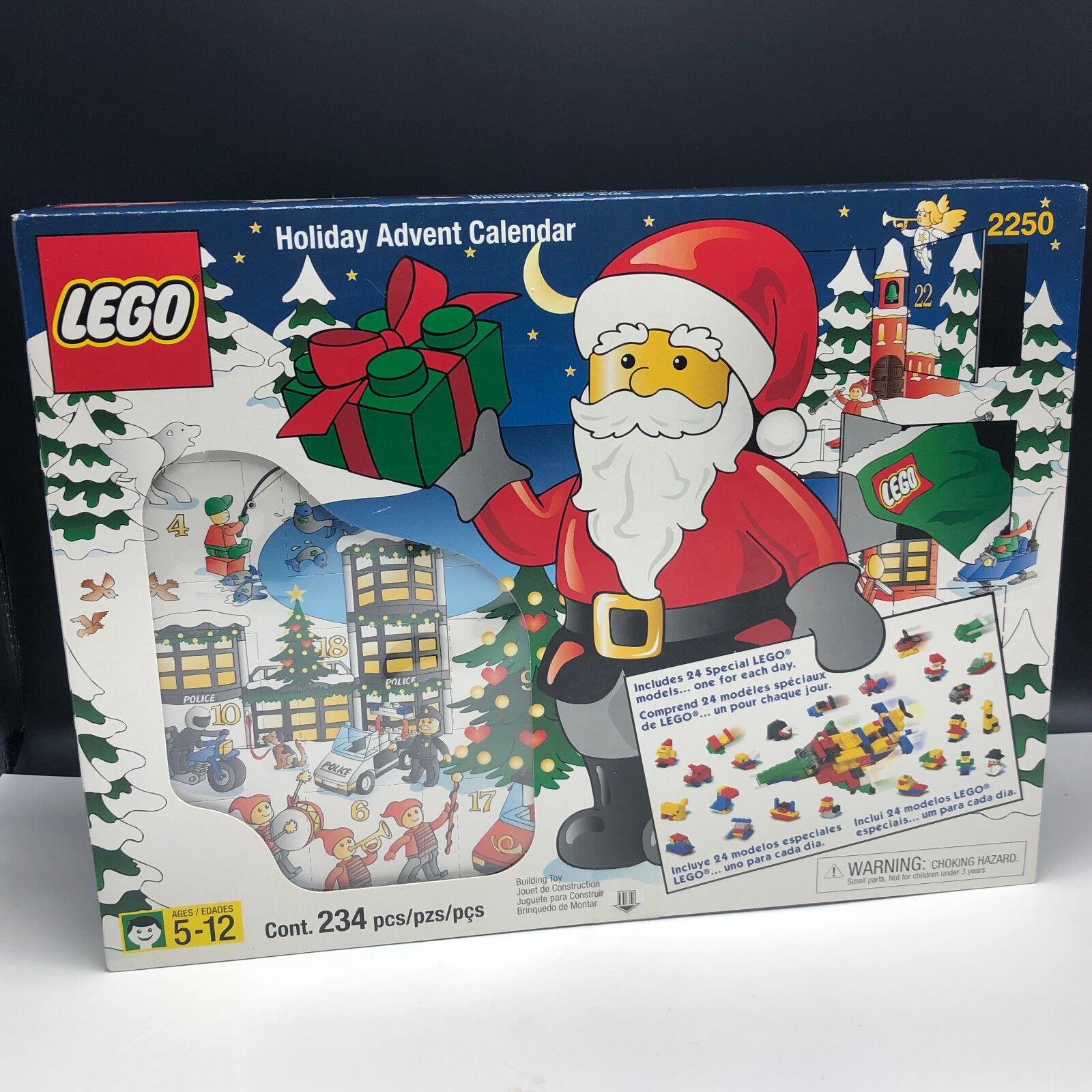 LEGO HOLIDAY ADVENT CALENDAR 2000 CHRISTMAS NEW SEALED 2250 nib box 234 set xmas