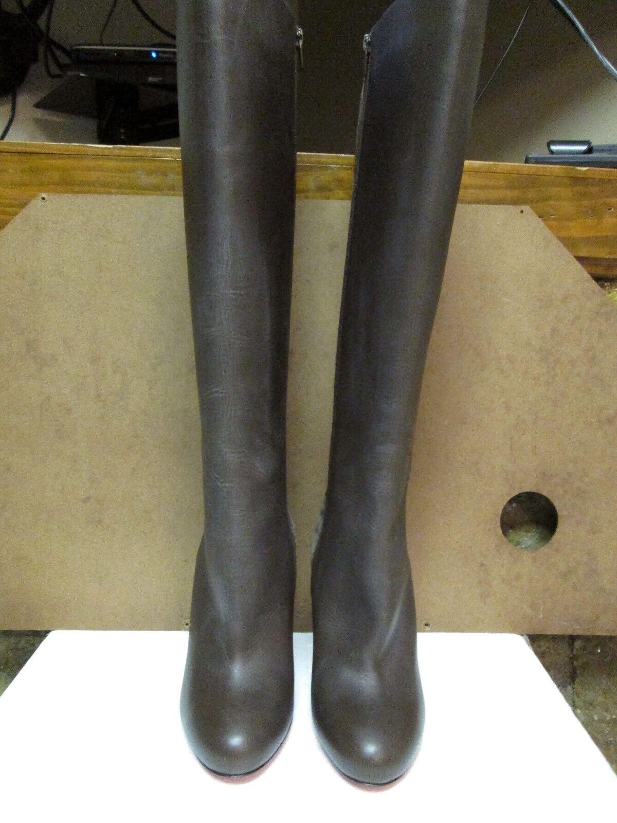 miglior prezzo Christian Louboutin Louboutin Louboutin Chocolate Leather & Suede Knee High stivali Dimensione 38  online al miglior prezzo