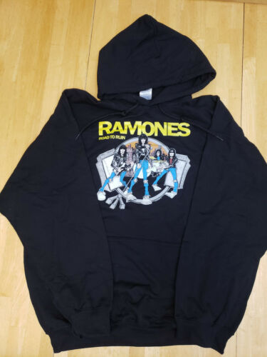 Ramones Road to Ruin Graphic Pullover Hoodie Sweater New Old Stock Punk Large