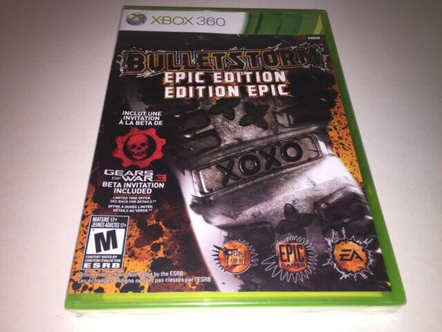 Xbox 360 Bulletstorm Epic Edition video game 2011 SEALED BRAND NEW NTSC LOT FUN