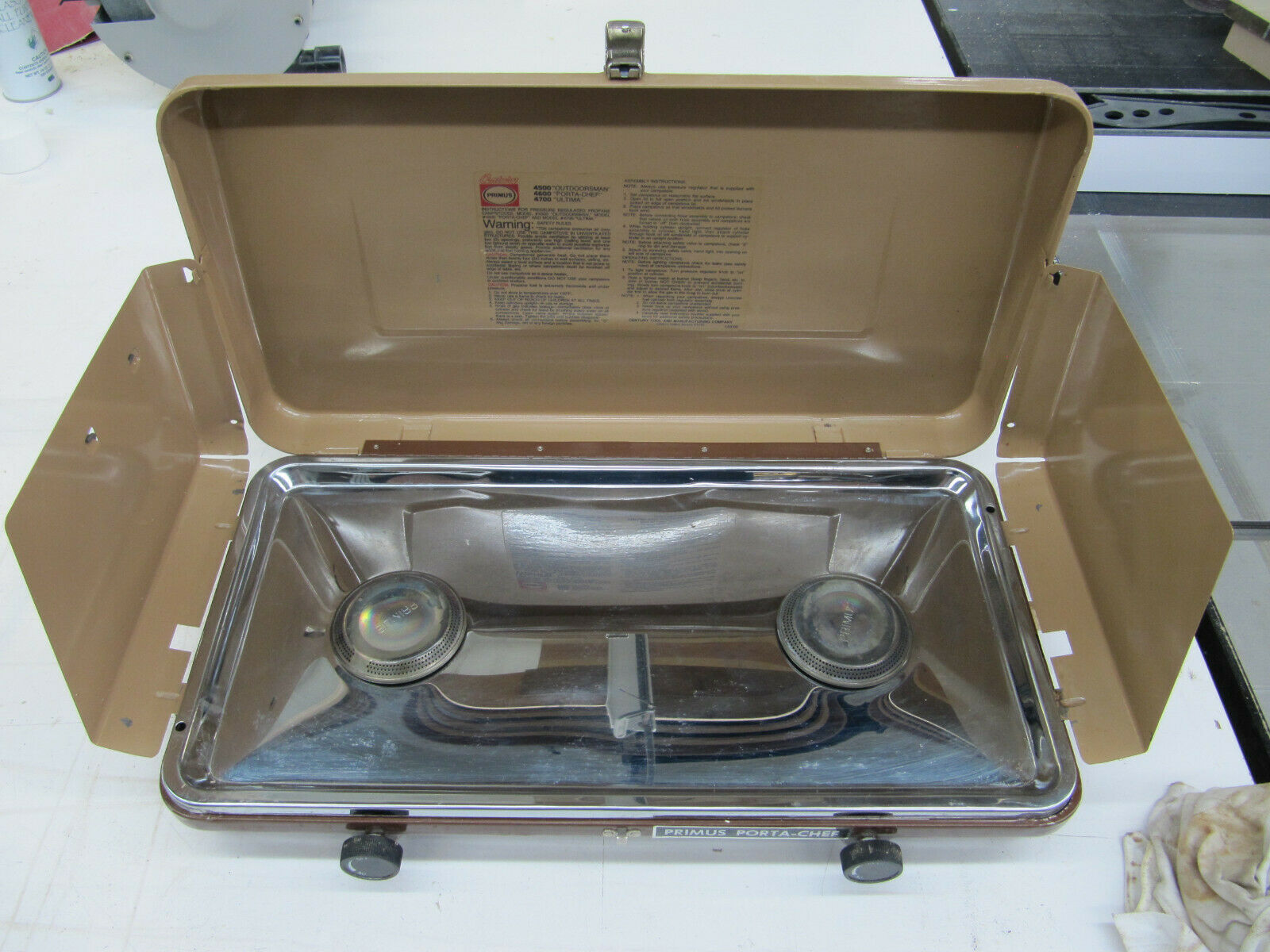 Vintage Primus Porta-Chef Propane Camping Portable Cook Stove  4600  unique design