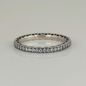 5040cc19cb526 Genuine PANDORA Silver Hearts of PANDORA Ring - 190963CZ | eBay