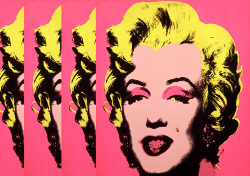 Monroe X 4 Pink American Artist Expression Celebrity Poster Pop Andy Warhol