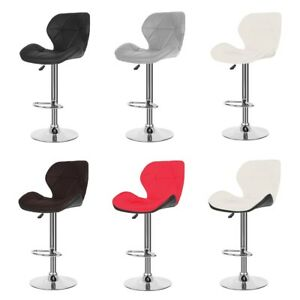 Incredible Details About 2X Bar Stools Leather Adjustable Pub Chair Swivel Dining Room Lounge Counter Squirreltailoven Fun Painted Chair Ideas Images Squirreltailovenorg
