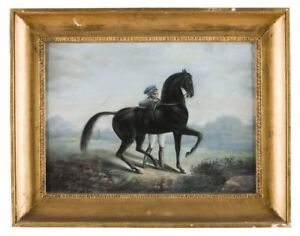 oil-painting-handpainted-on-canvas-034-jockey-and-a-horse-034-N13745