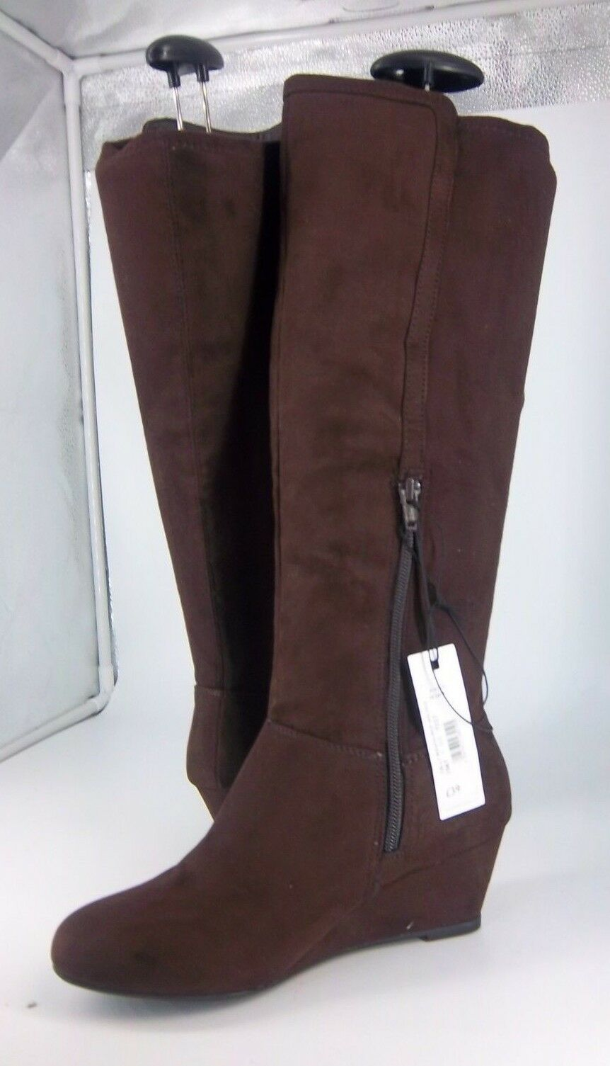 Debenhams Collection Celly Rouch Brown Wedge Boot LN088 AI10