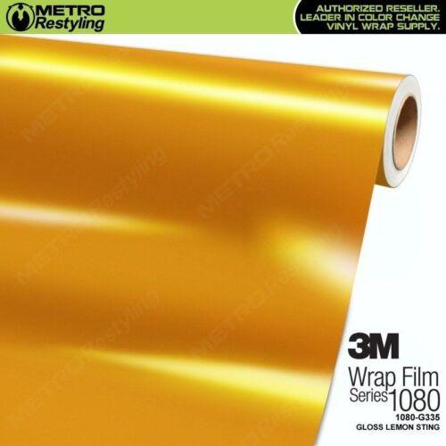 3M 1080 G335 GLOSS LEMON STING Vinyl Vehicle Car Wrap Decal Film Sheet Roll
