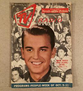 October 5, 1958 TV...RADIO MAGAZINE NY Herald Tribune DICK CLARK, SHIRLEY TEMPLE