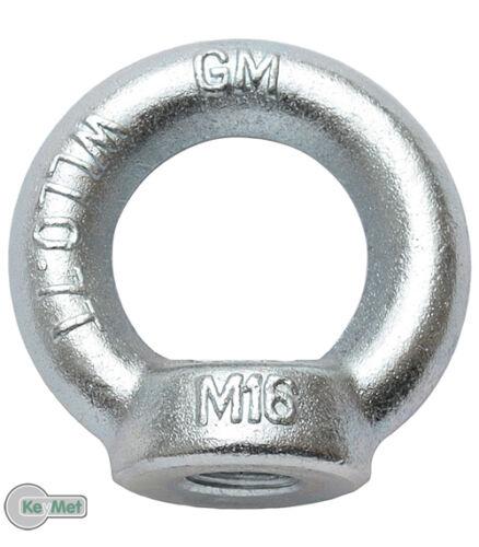 2 Ringmutter DIN 582 Ringschrauben von M6 bis M16 DIN 580 Zurröse C15 Kranöse