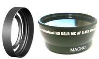 Wide Lens + Lhx10 Lens Hood With Ring Tube For Fuji Fujifilm Finepix X10 X20 X30