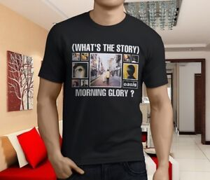 New-Popular-OASIS-Whats-The-Story-Morning-Glory-Men-039-s-Black-T-Shirt-Size-S-3XL