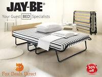 Jay Be Double Jubilee Airflow Folding Guest Bed Sprung Base Mattress &headboard