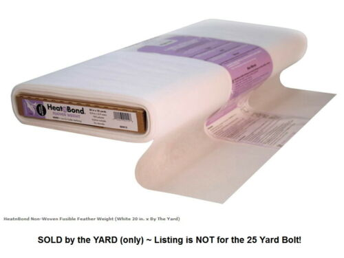Iron-On Fusible} BY THE YARD HEAT n BOND {Feather Wt} INTERFACING {Single-Sided