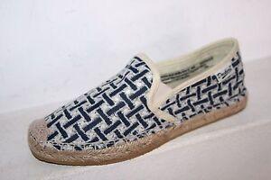 Dockers-Femmes-Espadrilles-tissu-Chaussures-D-039-ete-Chaussures-Bleu-Blanc